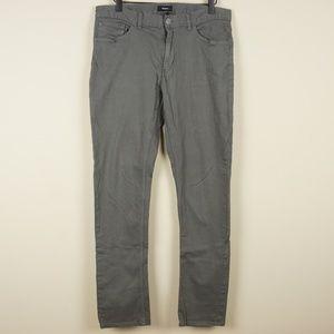 Theory Haydin Straight Fit Pants Gray Sz 32 x 31.5
